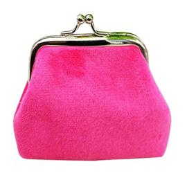Roze fluwelen knip (7 x 7 cm)
