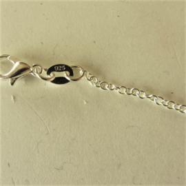 Zilveren ketting met kleine schakels (41,5 cm)