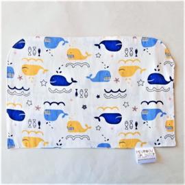 Walvissen in blauw en geel