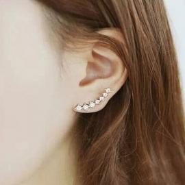 Strass-oorbellen als hangers of anders