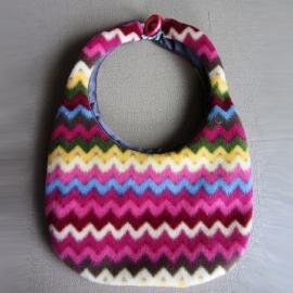 Schouder-tasje van zigzag fleece