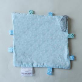 Panterbont met blauwe bloemetjesvoering