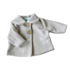 Zacht jasje van grijze fleece in maat 56-62