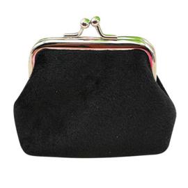 Zwarte fluwelen knip  (7 x 7 cm)