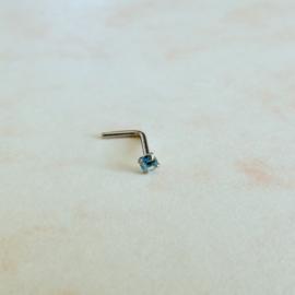 Neusstuds met kleine kristal (2 mm) in verschillende kleuren