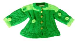 Groen gebreid jasje in maat 68-74