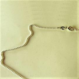 Zilveren ketting met balletjes-schakels (43 cm)