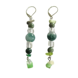 Jade met groene kwarts en kristal