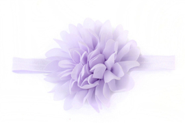 Bloem van lila voile aan band van elastiek