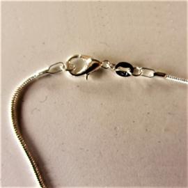 Ronde zilveren ketting (43 cm)