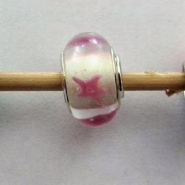 Bedel van Murano glas met zilver (ster)