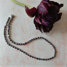 Halsketting van zwarte zoetwaterparels (50,5 cm)