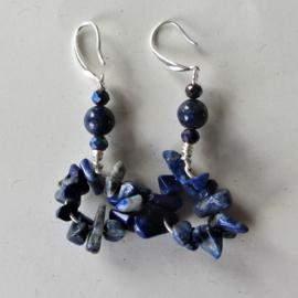 Lapis lazuli chips en kralen