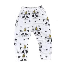 Pandabroekje van zachte tricot katoen in maat 68-74