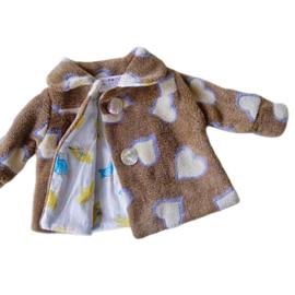 Superzacht jasje van fleece in maat 56-62