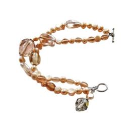 Oud-roze armband (20 cm lang)