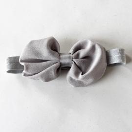 Zilverkleurige voile strik op elastiek