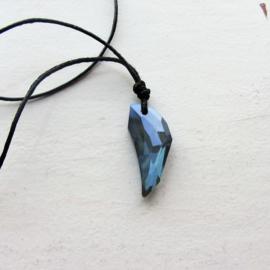 Blauwe kristal
