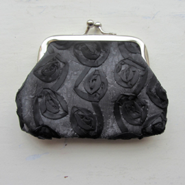 Zwarte organza knip (9 x 9 cm)