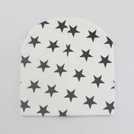 Wit met zwarte sterren (1-2 jaar)