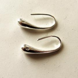 Zilveren druppel-oorhangers (korte steker)