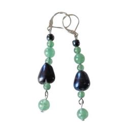 Hart van glas met jade