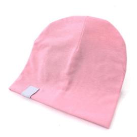 Roze muts in zacht tricot katoen voor maat 62-68