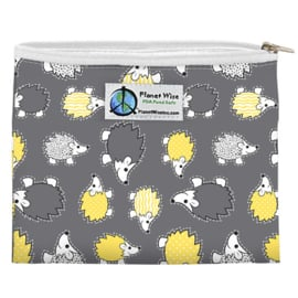 Planet Wise mini Wetbag (of Snackbag) - Hedgehog Poly