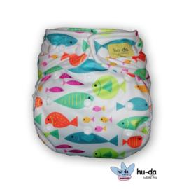 Hu-da Onesize Overbroekje - Fishy (Drukknoop)