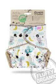 Petit Lulu Maxi/Night Fluffy Organic - Good Night - Snaps (7-16kg)