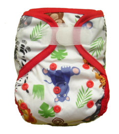 Fluffy Nature Newborn PLUS Überhose (2,5-6,5 kg) - Jungle