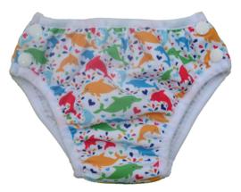 Paket 3 Fluffy Nature Schwimmwindeln - Dolphins - Gr. S bis L
