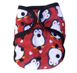 Fluffy Nature XL overbroekje (10-20kg) - Red Penguins