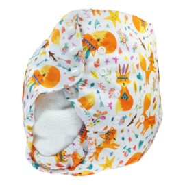 Blümchen 2in1 XL ECO Shell drukknoop - Foxes