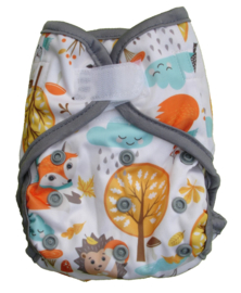 Fluffy Nature Newborn PLUS Überhose (2,5-6,5 kg) - Forrest