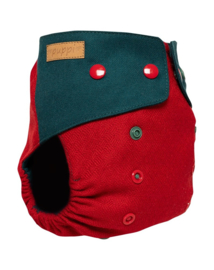 Puppi wollen overbroekje Winterberry - Snaps - Onesize(SIO)