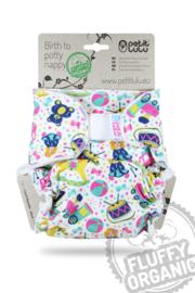 Petit Lulu onesize Fluffy Organic - Toys (velcro)