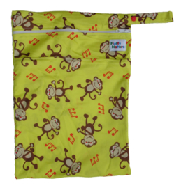 Fluffy Nature Wetbag - Yellow Monkey