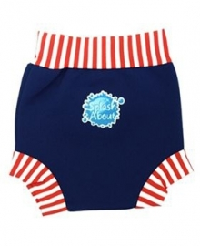 Happy Nappy Schwimmwindel Navy/red Stripes (3-4kg)