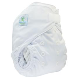 Blümchen onesize overbroekje White (velcro)