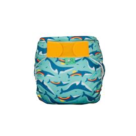 Totsbots zwemluier Rainbow Whale (turquoise)