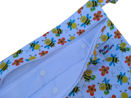 Fluffy Nature Wetbag met Wasnet - Bees