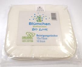 "Blümchen - ""Kuschel""Biokatoen billendoekjes (10 st)"