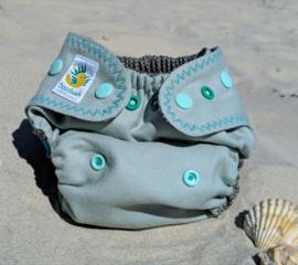 Doodush wollen overbroekje Seahorse (drukknoop) - XL