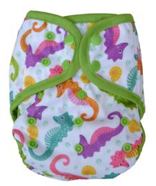 Fluffy Nature Onesize Overbroekje (drukknoop) - Seahorses