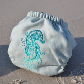 Doodush wollen overbroekje Seahorse (drukknoop) - Onesize