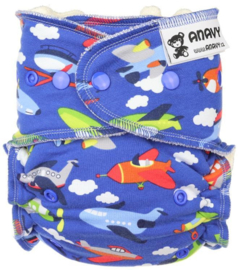 Anavy Bamboo Onesize Snaps - Air Planes