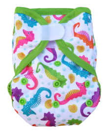 Fluffy Nature Newborn PLUS Überhose (2,5-6,5 kg) - Seahorses