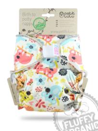 Petit Lulu Maxi/Night Fluffy Organic - Koala - velcro (7-16kg)