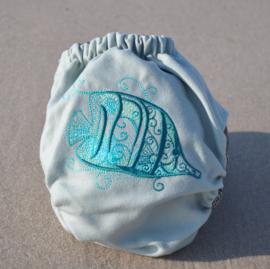 Doodush Wollüberhose Fish (Snaps) - Onesize